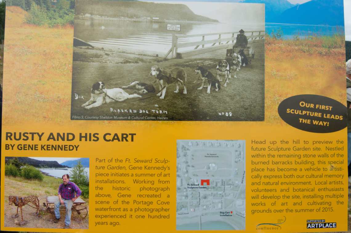 An Interpretive Sign By Andrea Nelson Orients Visitors To The Fort Seward  Interpretive Sculpture Project