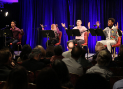 """Ping Chong + Company's documentary theater production of """"Beyond Sacred: Voices of Muslim Identity"""" at the 2017 ArtPlace Summit."""