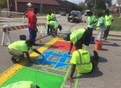 Rader Street Transformation with local volunteers