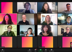 A zoom screen featuring the ArtPlace staff of 11 people