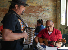 Local musicians playing accordion
