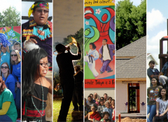 Collage of the 6 community development communities
