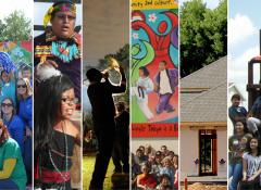 Collage of the 6 community development communities