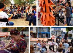 Images from the OkuPlaza Fest in DC featured in the Crossing the Street Zine.