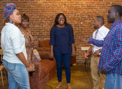 The Delta Creative Business Challenge meeting featuring five creatives