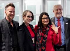 Dr. Neeli Bendapudi, first woman and person of color to be University of Louisville President, at the January 2019 launch of the UofL Center for Creative Placehealing. Photo: Josh Miller