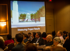 Image of a research oriented presentation from this year's Grantee Summit