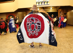 Ceremonial dance performed from the Haida Heritage Foundation