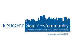 """Cityscape logo with the text """"Knight Soul of the Community"""""""