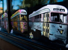 Image of trolleys for the El Paso Transnational Trolley Project