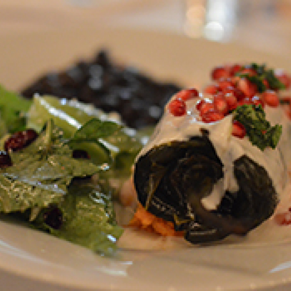 Image of a plate of food farmed with sustainable methods