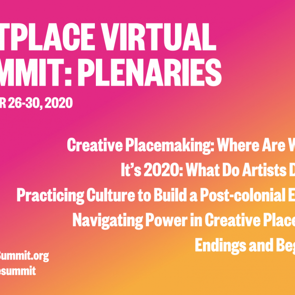 Image reading ArtPlace Virtual Summit Plenaries