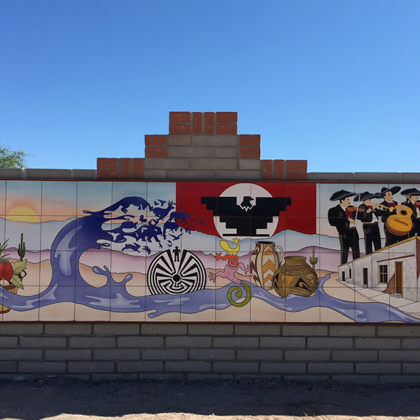 Image of a mural on a sunny day