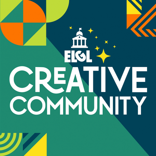 Text image with the words ELGL Creative Community
