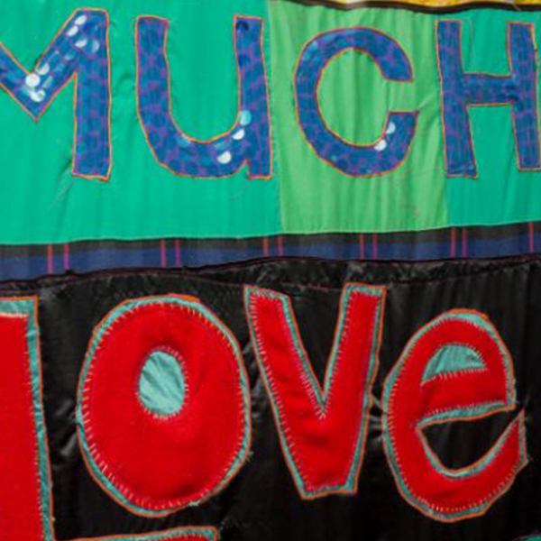 A quilt created by participants in Blues City Cultural Center's Sew Much Love program. Photo by Nellgene Hardwick, courtesy of Last Dream Productions