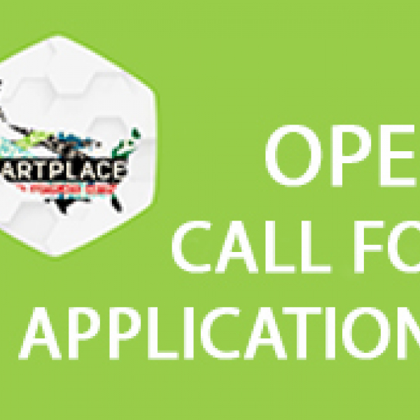 Image over green text that reads Open Call for Applications